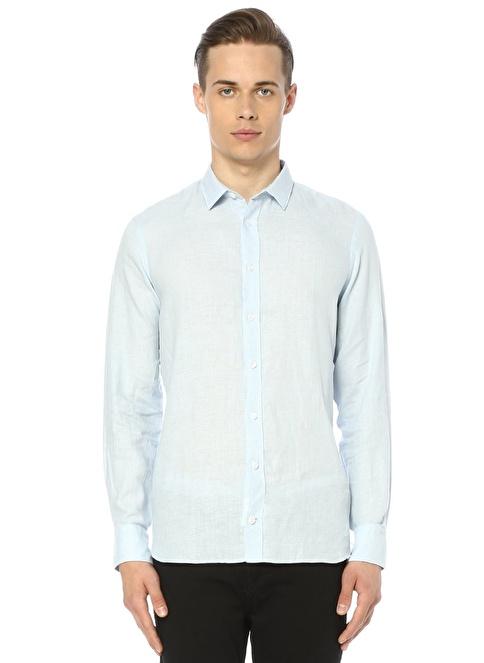 Gravitas Uzun Kollu Slim Fit Gömlek Mavi